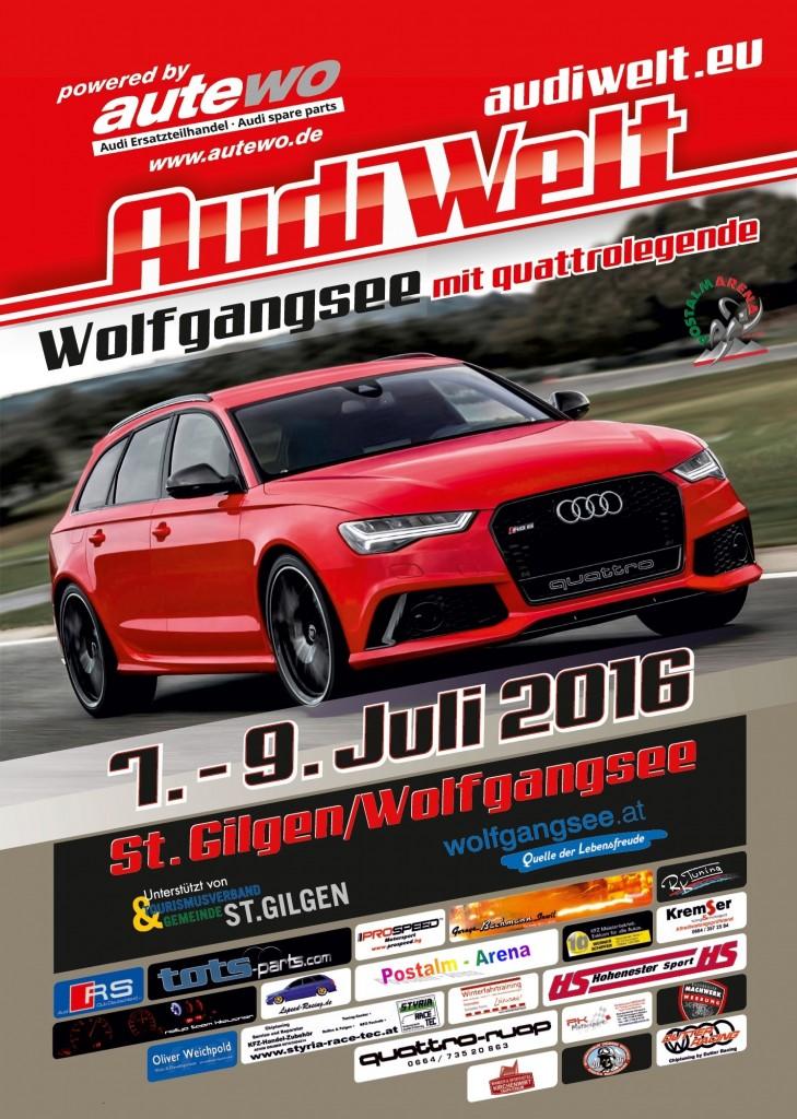 Plakat Audi Welt hoch